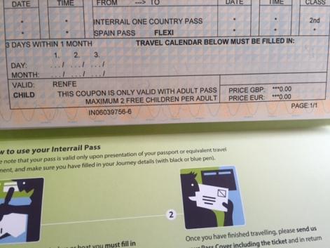 Interrail penning in