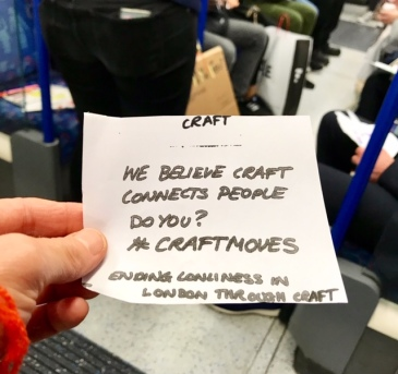 #craftmoves, #lonelinesslab, craft, loneliness, art, people, humanity, life, city, community, mental health, mental wellbeing